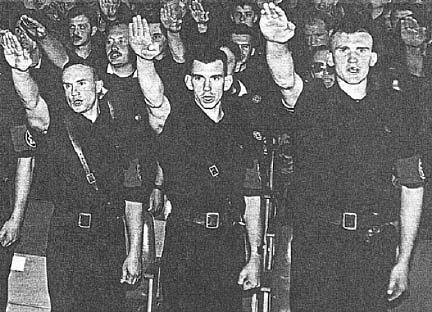 RNU members giving a salute